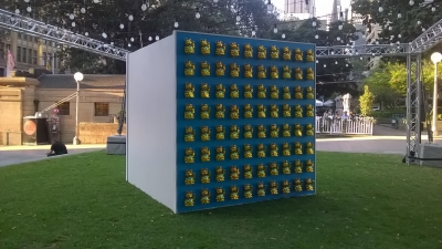 Night noodle markets display activation